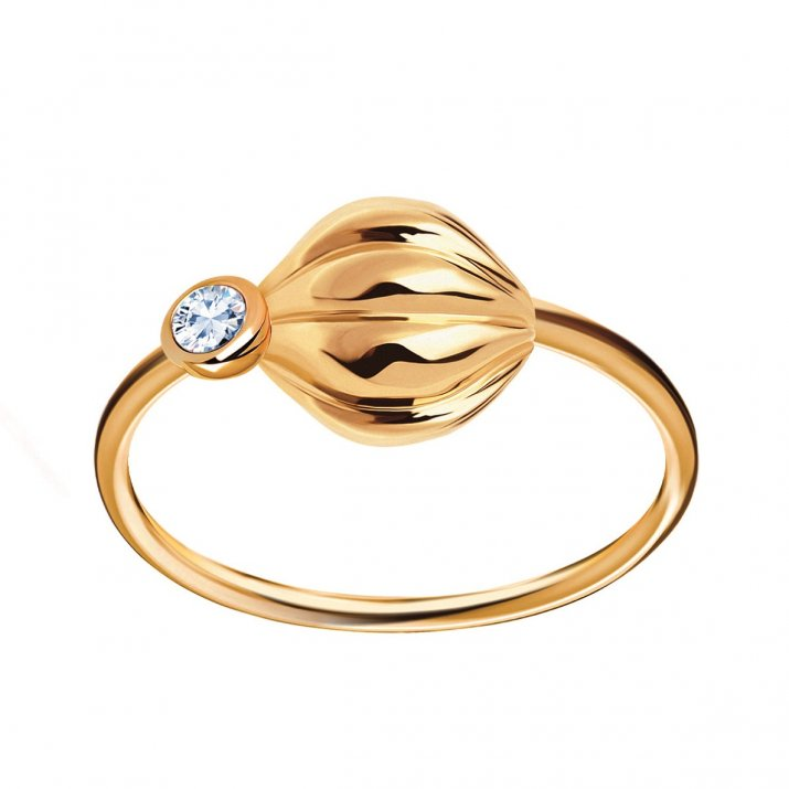 Pierścionek złoty ztopazem błękitnym - Botanica 749 PLN YES(3)